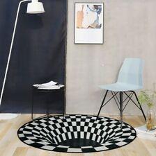 3D Vision Bereich Teppich Rund Teppichboden Pad Rutschfeste Fußmatte Bodenmatte