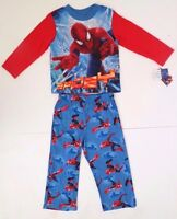 Marvel Amazing Spider-Man Boy's Flame Resistant 2 Piece Pajama Set Sizes 4-10