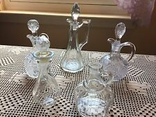 Vintage Oil & Vinegar Glass Cruets