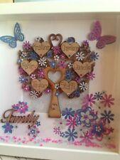Handmade Personalised Family Tree Shadow Box Frame Birthday Unique Gift