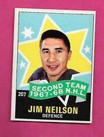 1968-69 OPC # 207 RANGERS JIM NEILSON ALL STAR NRMT++  CARD  (INV# D1185)