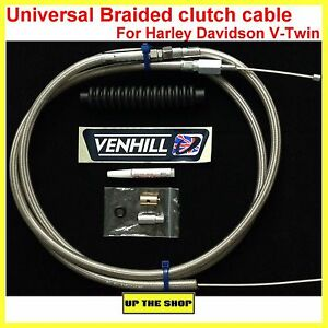 "Venhill universal Harley Davidson V-Twin braided clutch cable 82"" / 2080mm"