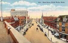 Main Street Walla Walla Washington Vintage Postcard L559