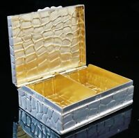 Antique 2 Compartment Silver Card Box, Birmingham 1900, Lawrence Emanuel