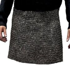 Chain mail Skirt 9 mm Flat Ring Dome Riveted With Solid Ring Medieval Skirt