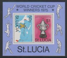 St Lucia - 1976, West Indies Victory in World Cricket Cup sheet - MNH - SG MS433