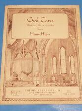 God Cares Sheet Music 1946 Helen A Casterline and Henry Hager