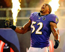 RAY LEWIS ON FIRE Baltimore Ravens Home Field Ritual Premium POSTER Print