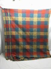 Antique PA Coverlet Loom Woven Bed Spread 1800s Blanket Linen A