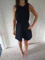 Black Topshop Skater Dress Size 8