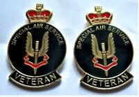 2x Brand New Beautiful Military Special Air Service SAS Veteran Enamel Pin Badge