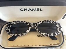 RARE VINTAGE CHANEL GRAFFITI CAT EYE SUNGLASSES + CASE