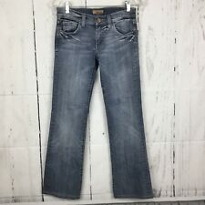 c3df494dd7df7 STS See Thru Soul Size 25 Jeans Distressed Button Flap Pockets Boot Cut Mid  Wash