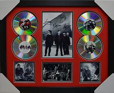 U2 SIGNED MEMORABILIA FRAMED 4 CD LIMITED EDITION V2 RED