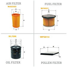 WIX AIR POLLEN OIL & FUEL Filter Service Kit WA6565,WP6814,WL7086,WF8021