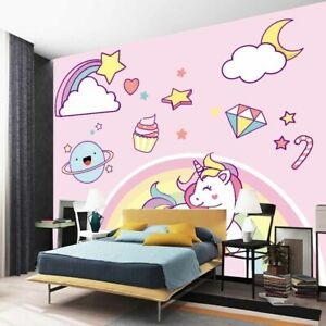 Purple Rainbow Full Wall Mural Photo Wallpaper Printing 3D Decor Kid Home