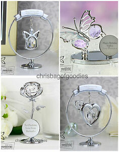 PERSONALISED Crystocraft Swarovski Crystal Unusual Gifts Present for Her Women