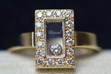 Chopard Happy Diamond 18ct Yellow Gold Rectangular Ring, Size M, Ref: 82/6729-0