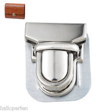 10Sets Silver Plated Case Bag Accessories Purse Snap Clasps Duck tongue lock