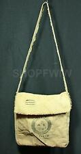 Handcrafted Mother Hubbard Flour Vintage Style Burlap Messenger Bag