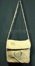 Handcrafted Mother Hubbard Flour Vintage Style Burlap Messenger Bag