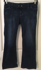 Gap Maternity Stretchy Low Real Waist Panel, Size 4 Reg, Cropped Jeans Capris