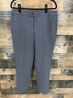 Jasmine & Juliana Women's Navy & Red Print Flat Front Trouser Pants Size 12