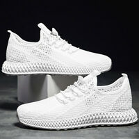 Men Breathable Monolayer Mesh Comfort Shoes Knit Sports Running Athletic Sneaker