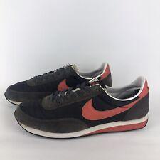 Nike Elite Vintage Sienna Trainers Leather Black/Red/White Mens UK 11 AJ2565-001