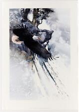 Signed Vintage Morten Solberg Wildlife Americana Eagle Realism Lithograph #50