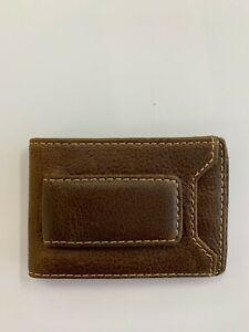 HOJ Co. IVAR ID BIFOLD Money Clip Wallet-Full Grain Leather-Magnetic Front brown
