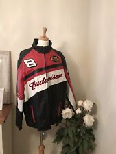 Dale Earnhardt Jr. Budweiser Leather Nascar Jacket Size XL Extra Large EUC