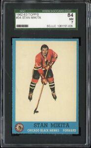 1962 Topps #034 Stan Mikita SGC 84 NM