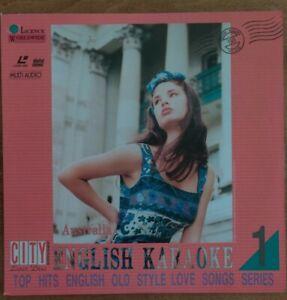 *RARE* English KARAOKE 1 - Top hits English-City Entertainment Laserdisc