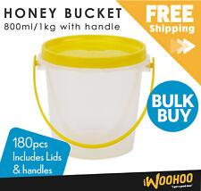 Carton of 180pcs Honey Bucket 800ml/1kg Honey Jar Beekeeping Storage Container