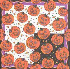 3 Serviettes en papier Fête Halloween Citrouille Decoupage Paper Napkins Pumpkin