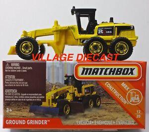 2018 Matchbox Power Grabs #48 Ground Grinder™ YELLOW / ROAD GRADER RG165 / MIB