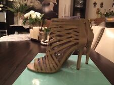 Nothing but straps, color nude, size 8, shoe