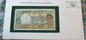 Banknotes of All Nations New Caledonia 1969 1981 500 Francs P-60e X.1 UNC sign 5