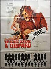 Affiche UN DE NOS ESPIONS A DISPARU One of our spies is missing ROBERT VAUGHN *