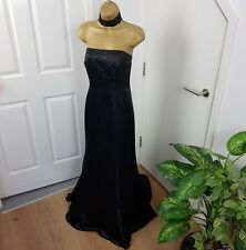 Stunning Morgan & Co Dress Maxi Long Tail Choker Sleeveless Black UK 12