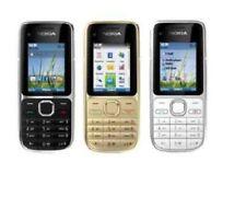 New Nokia C2-01 3G Sim Free Unlocked Bluetooth Mobile 3.2MP Camera Black Gold UK