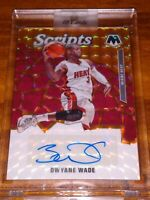 Dwyane Wade 2019-20 Mosaic  Orange Scripts Prizm Refractor Auto Miami Heat MINT!