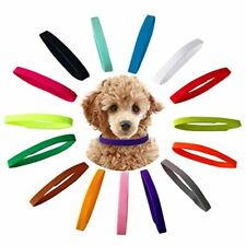 Puppy Id Collars Whelping Dog Band Newborn Soft Fabric Adjustable 15 Colors pet