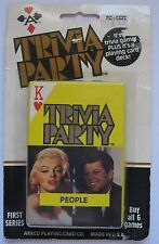 Trivia Party Playing Cards Deck Famous People ARRCO Sealed New TV Movies Politic
