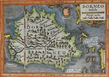 Indonesia, Malaysia, Brunei, Kalimantan, Bertius/Hondius, 1618, Borneo Insula