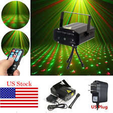 Mini R&G LED Laser Stage Lighting Xmas DJ Disco Party w/Remote Controller AC220V