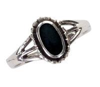 925 ECHT SILBER *** Kleiner Onyx Ring, Größenauswahl