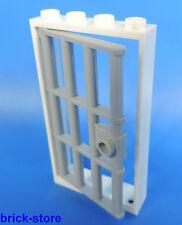 LEGO Prison Porte / 1x4x6 Cadre Blanc / avec insert grille gris clair