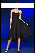 top edles APART Chiffon Kleid Abendkleid Cocktailkleid NEU schwarz